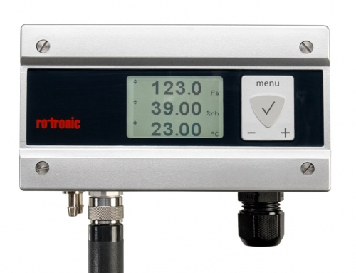 New from Rotronic: PF4 differential pressure transmitter