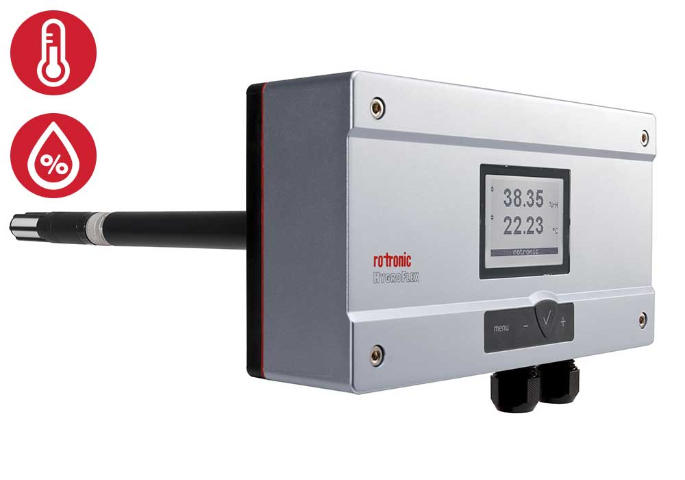 Rotronic HF5 metalen display